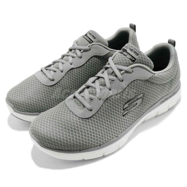 Skechers Flex Advantage 2.0 Dayshow Grey White Men Walking Shoes 52125 GRY