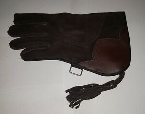 Falconry-Glove-Double-Skinned-Nubuck-Leather-12-034-2-Layer-Dark-Brown-Pc-7277