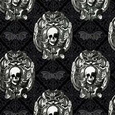 Fat Quarter Freak Out Gothic Skulls Cotton Quilting Fabric Michael Miller