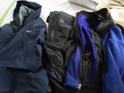 3 men's Large jackets: Patagonia and LL Bean