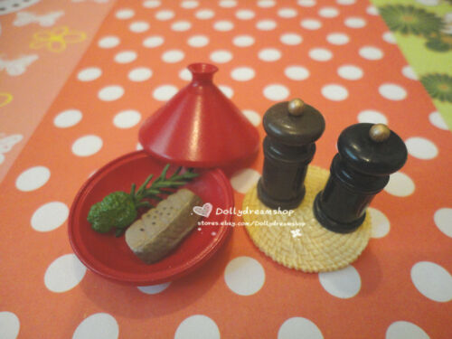 Re-ment Miniature Happiness Recipe Homemade Meals No.4 White Fish tagine pot