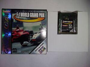 f1 world grand prix nintendo game boy color GBC boite boxed european version EUR
