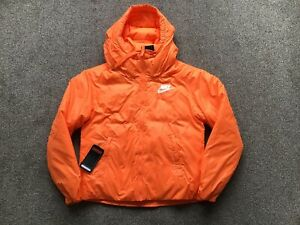 Poder Mezquita Irregularidades  Womens Nike Thermore Down Fill Hooded Jacket Orange Size Small ...