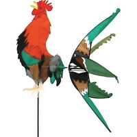 Morning Rooster Staked Wind Spinner With Pole & Ground Mount Pr 25365
