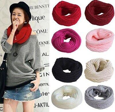 Women Long Scarf Knit Soft Winter Neck Circle Wool Blend Cowl Snood Shawl Wrap