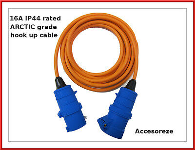 All Lengths Caravan Camping Motorhome Hook Up Cable 16A Site Extension Lead Electric 2.5mm Orange 3183Y 10m