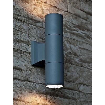 Moderno arriba y abajo Pared Lámpara exterior de Fundición de aluminio E27