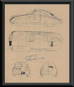 Ferdinand-Porsche-Autograph-Reprint-Diagram-of-114K1-On-80-Year-Old-Paper-P061