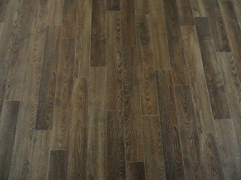 PVC Bodenbelag Holz-Optik Planken mit Silberglanz 300 cm Breite  pro qm =