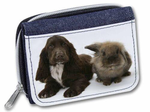 Cocker Spaniel Dog Girls//Ladies Denim Purse Wallet Christmas Gift Idea AD-SC7JW