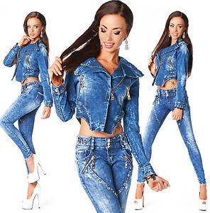 taille mode basse Veste femme B fanée à 672 courte sexy Jeans Slim la vqIwqCxrFz