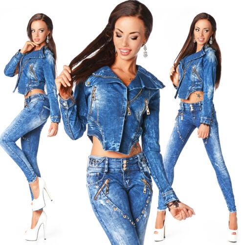 taille B Slim basse Veste femme sexy la Jeans fanée mode 672 à courte wPxzqw0T