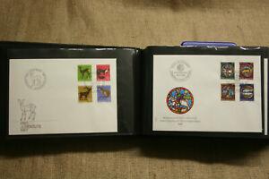76-Ersttagsbriefe-Briefmarken-aus-Schweiz-Bern-1961-2002-neuwertig