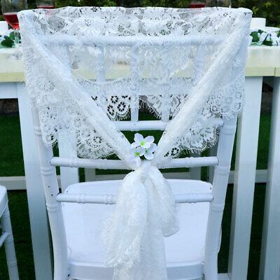 White Lace Table Runner Floral Chair Sash Boho Wedding Bridal Party Decor Ebay