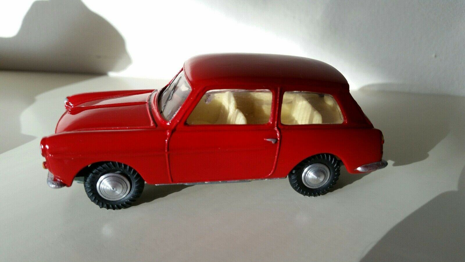 Vintage Spot On Diecast Red Austin A40 Farina Code 3 Bare Metal Refurbishment