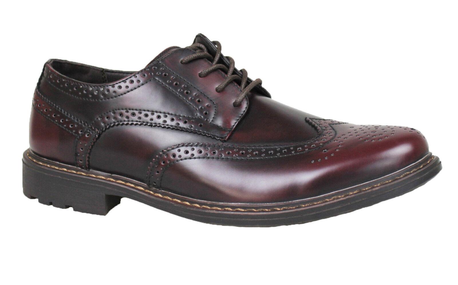 shoes OXFORD HOMBRE DIAMANTE BURDEOS CHAROL CASUAL ELEGANTES MAN'S shoes