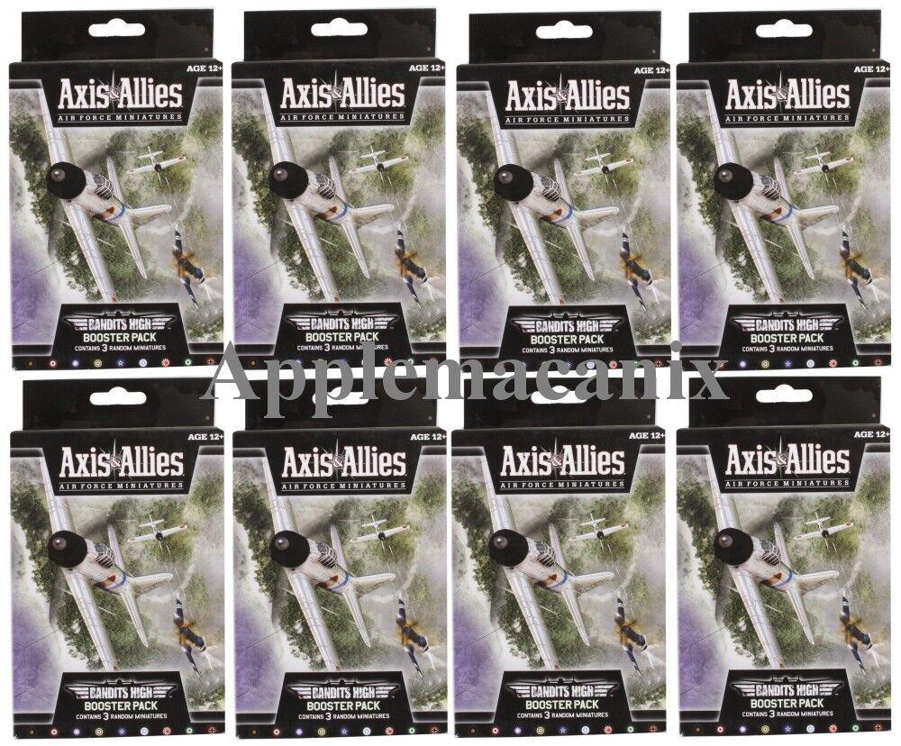 Nuevo Axis & Allies Air Force Miniatures-bandidos alta 8 Pack Caja Caso de refuerzo