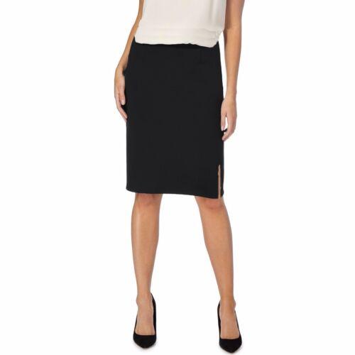 Size 12,14,16,18,20,22,24,26  *LICK* Elastic Waist Black Knee Length Skirt
