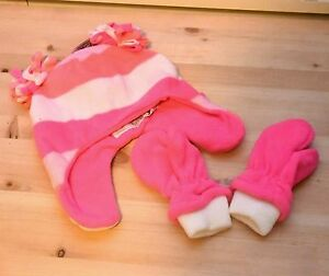 The Childrens Place Girls Toddler Fairisle Glacier Fleece Hat and Mittens Set