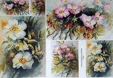 Rice Paper Flowers Garden Wild Rose for Decoupage Scrapbook and Crafting 261