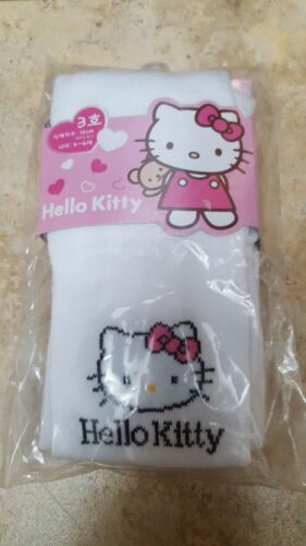 NWT Girls Pink Sanrio Hello Kitty Stocking Tights Footed Size 4-6 7-9