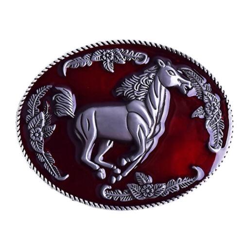Zink Legierung American Running Horse Männer Gürtelschnalle Western Cowboy