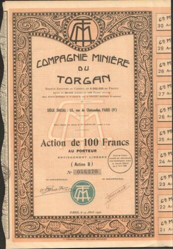 H AUDE 11 mines de Cuivre Compagnie Minière du TORGAN