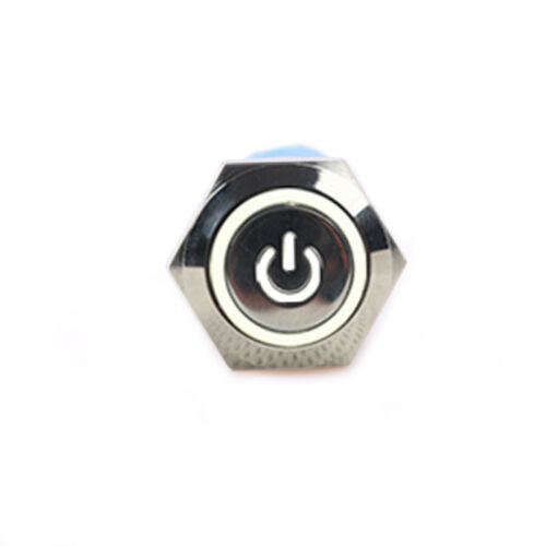 16mm 12V Led Lighted Push Button  Metals power ON-OFF Switch For Car Boat、2018