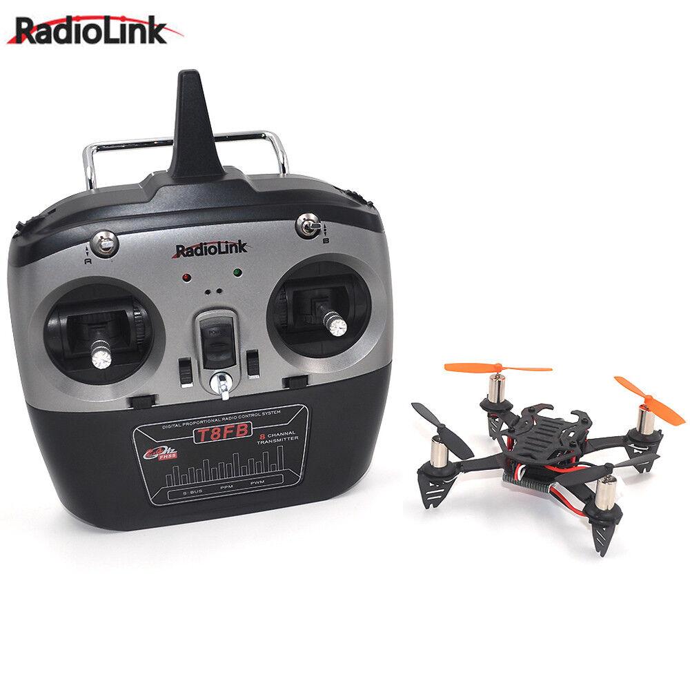 Radiolink F110 Mini Drone Cuadricóptero con T8FB 8CH transmisor de radio control