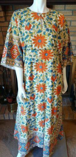 Vintage Ramona Rull Hippie Bohemian Floral 100% Co