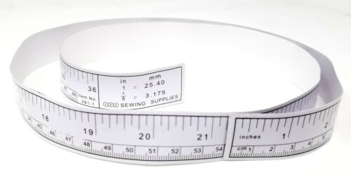 """36/"""" White Self Adhesive Metric Measure Tape Ruler Sticker for Sewing Machines"""
