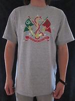 Cavi Mens Gold Foil Design & Gray Short Sleeve Cotton T Shirt Top Size Large