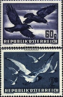 Adaptable Austria 955-956 complete Issue Never Hinged 1950 Airmail-issu Skilful Manufacture Unmounted Mint
