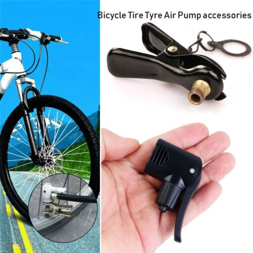 Bicycle Tire Air Pump Inflator Nozzle//Clip Multi-use FV AV Valve Connector
