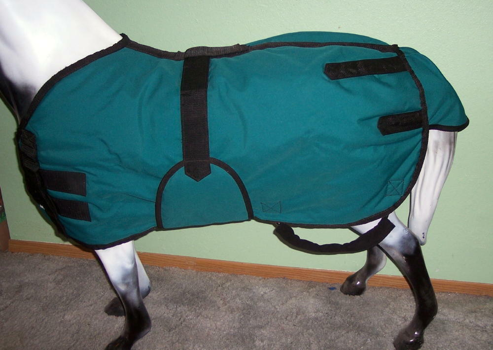 MINI-HORSE MINIATURE HORSE CORDURA WINTER WITH BLANKET WITH WINTER FLEECE COVEROT LEG STRAPS 44459c