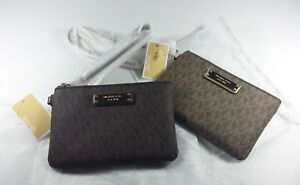 New-Authentic-Michael-Kors-Women-039-s-Jet-Set-Logo-Small-Wristlet-Gift-CLEARANCE