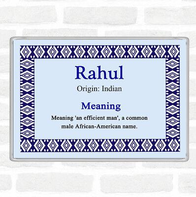 Nome Rahul Significato Jumbo Frigo Calamita Blu-