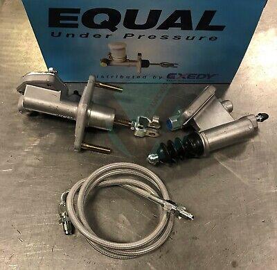 Exedy Master /& Slave Cylinder /& Stainless Clutch Line Kit 92-00 Honda Civic