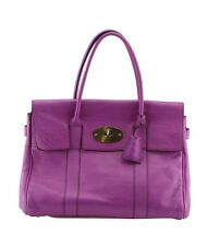 Mulberry Bayswater Purple Leather Shoulder Bag