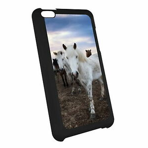 Horse-Pony-Foal-Hard-Case-Cover-For-iPod-Touch-z4-x0149