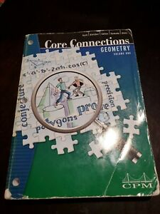 Core Connections Geometry, CPM, 2nd / Second Edition ...