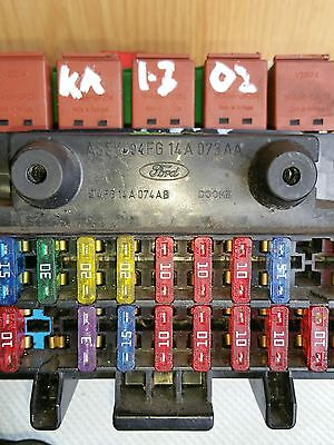 - ford ka 1 3 2002 mk1 (p-reg to 2008) dashboard fuse box 94fg14a074ab |  ebay
