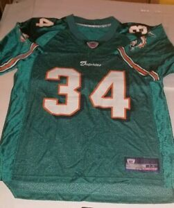 Vtg-Miami-Dolphins-Ricky-Williams-Jersey-NFL-football-34-OLD-LOGO-MEDIUM-M-EUC