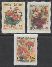 Irak Iraq 2002 ** Mi.1678/80 Blumen Flowers Flora Rosen Roses Umwelt Environment