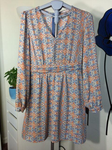 FOREVER 21 Women's Size M Floral Sheer Long Sleeve Dress
