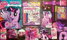 My Little Pony FIM Princess Twilight Sparkle 15 Item Gift Set! LOT Figures Plush