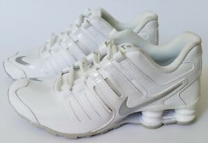 9b3462cb410804 Details about Nike Shox Current GS White Silver Platinum Grey 739637-102  Youth Shoes
