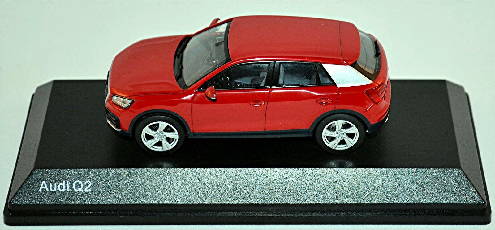 Original Audi Q2 GA Modellauto 1:43 Tangorot Modell Audi Q2 Typ GA Rot 1:43