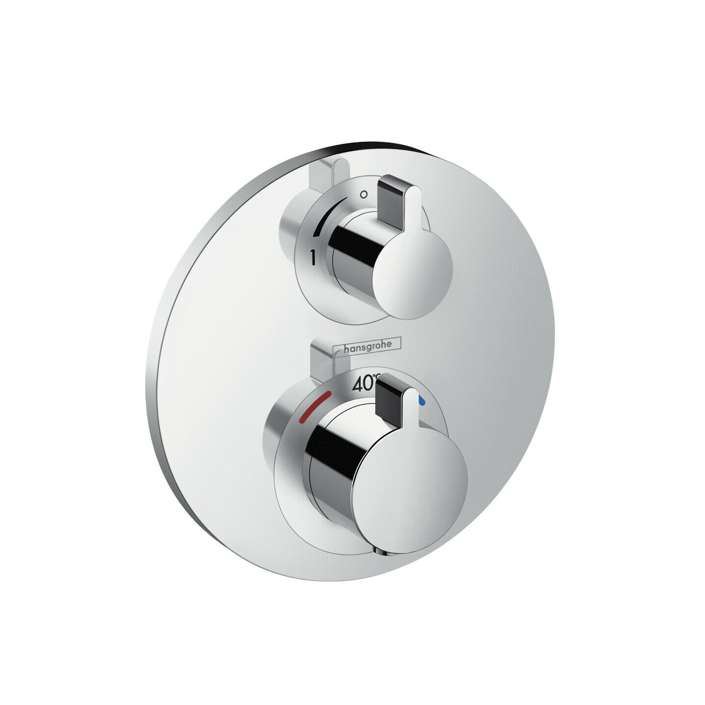 Hansgrohe ECOSTAT S Thermostat Fitting Flush-Mounted In-Wall Shower up 15757000