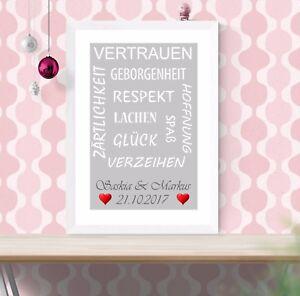 Personalisierter Bilderrahmen A4 Geschenk Zum Valentinstag Jahrestag